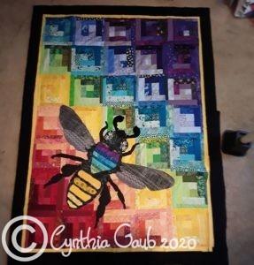 rainbow bee quilt