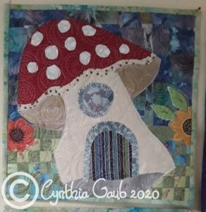 mushroom house collage